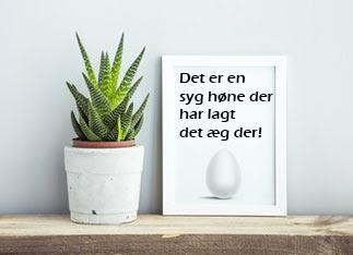 Syg høne citat plakat