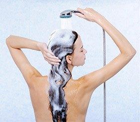 Vask hår